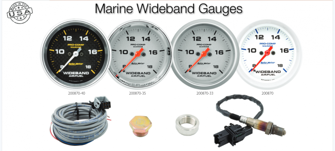 Autometer Offering 4 New Wideband Marine Gauges